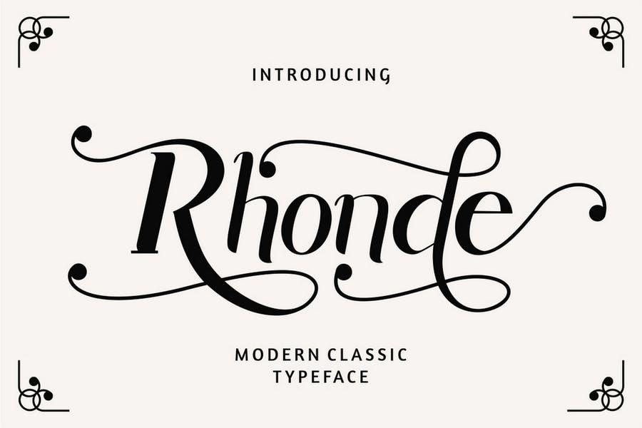 Hand Written Modern Classic Typeface