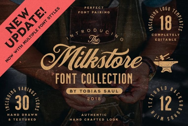 Handcrafted Vintage Fonts Collection