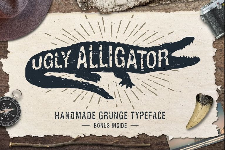 Handmade Grunge Display Typeface