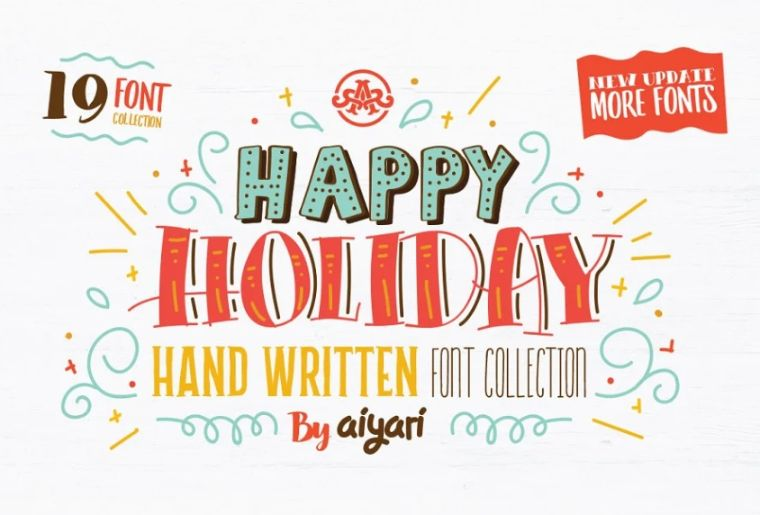 Happy Holidays Doodle Font