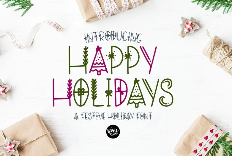 Happy Holidays Font