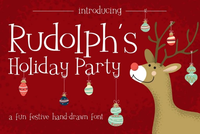 Holiday Party Hand Drawn Fonts