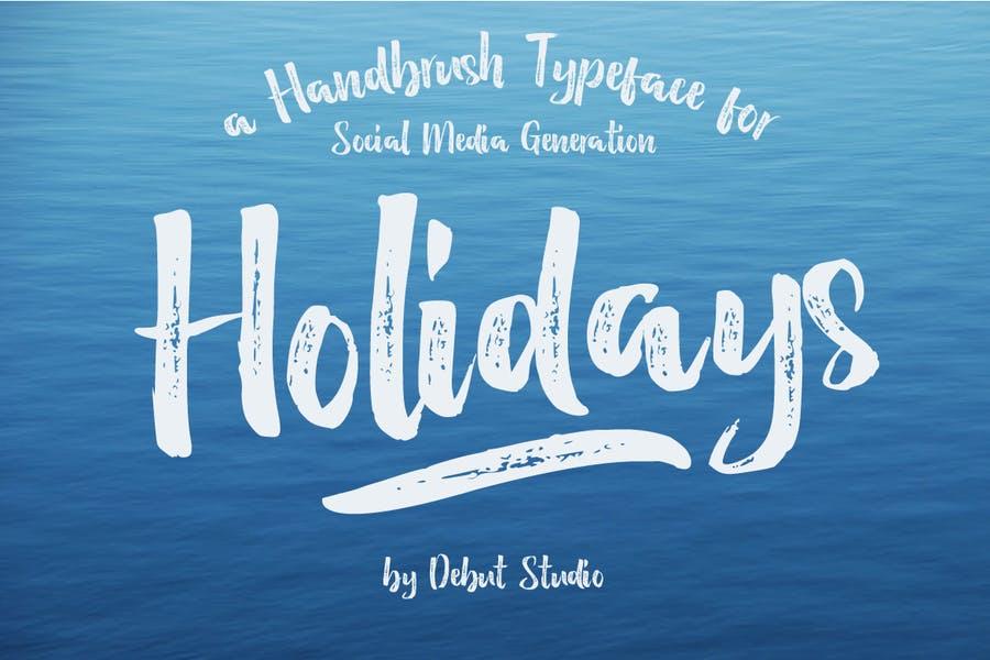 Holidays Brush fonts