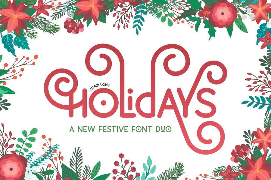 Holidays Festive Duo Fonts