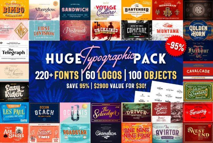 Huge Typographic Bundle Pack