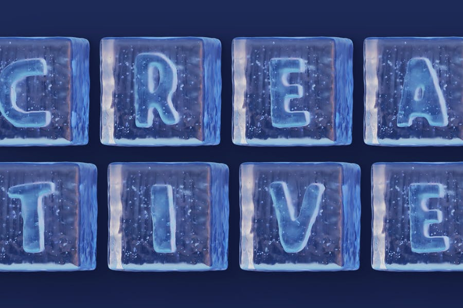 Ice Carved 3D Fonts