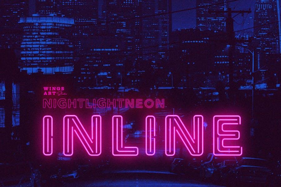 Inline Neon Retro Fonts