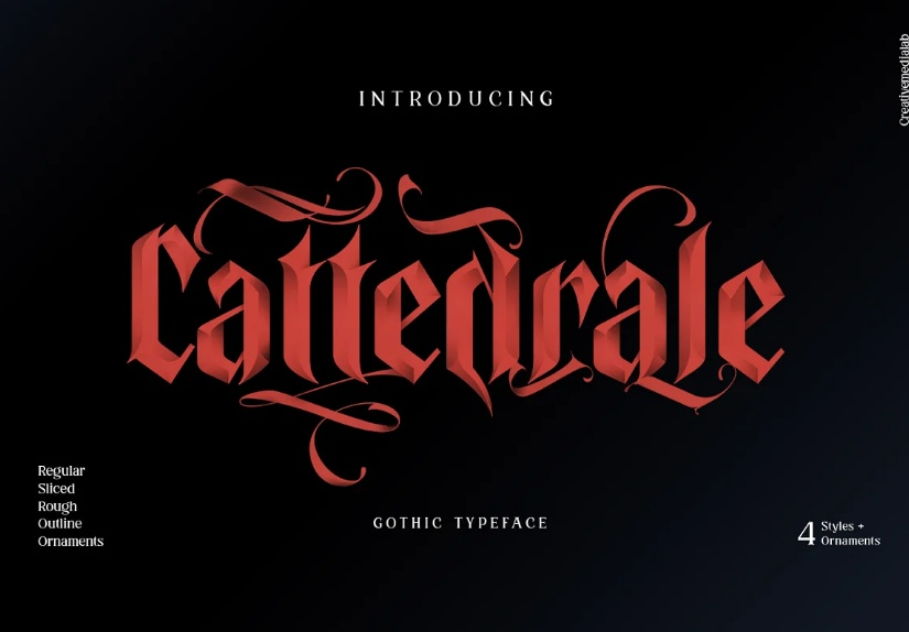 Medieval Tattoo Lettering Fonts
