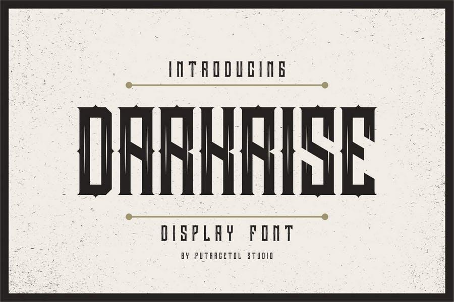 Metallic Style Classic Display Fonts