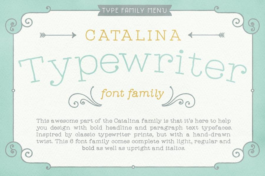 Minimal Typewriter Display Font Family