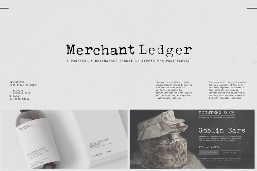 Minimal and Elegant Typewriter Typeface