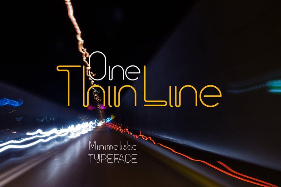 Minimalist Thin Line Fonts