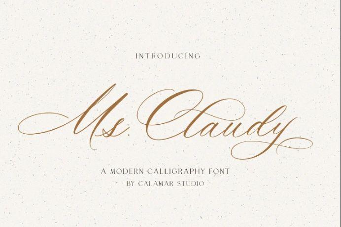 Modern Beautiful Calligraphy Fonts