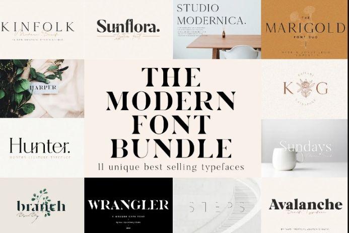 Modern Feminine Font Bundle