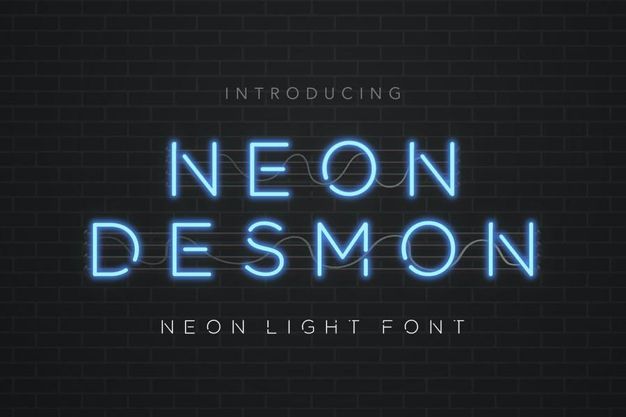 Modern Neon Light Fonts