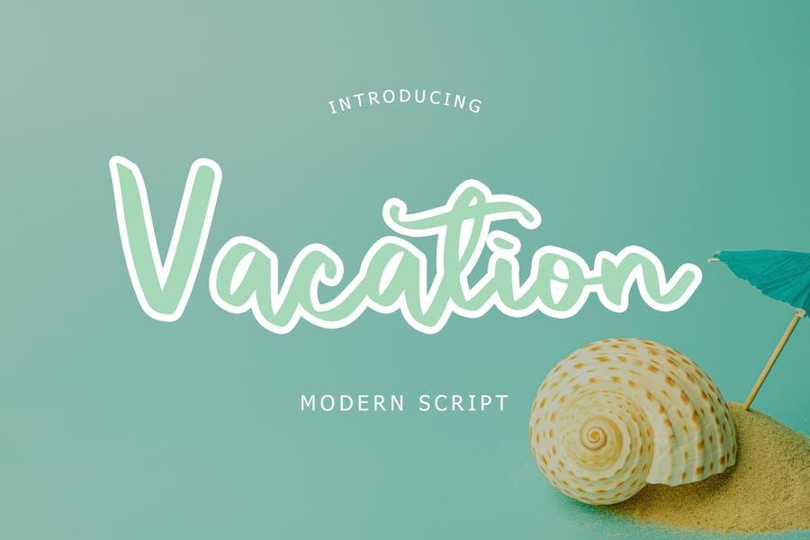 Modern Vacation Script Fonts