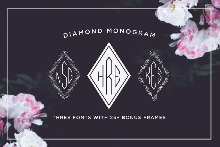 Monogram Diamond Style Fonts
