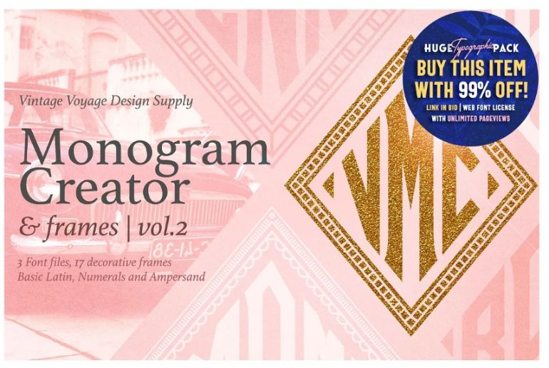 Monogram Display Creator