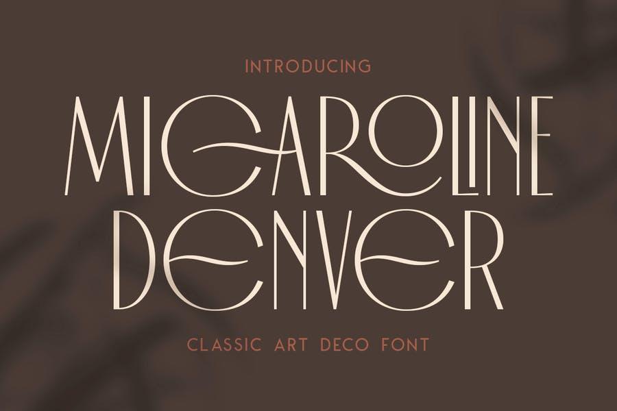 Monoline Classic Art Deco Fonts