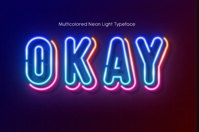 30+ Best Neon Fonts For Designing Party Templates