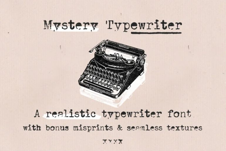 Mystery Typewriter Style Fonts