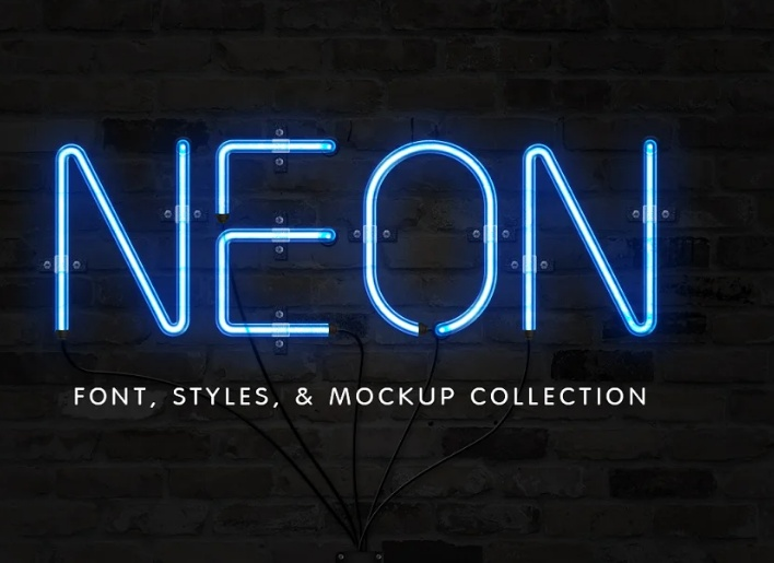 Neon Fonts and Sign Collections