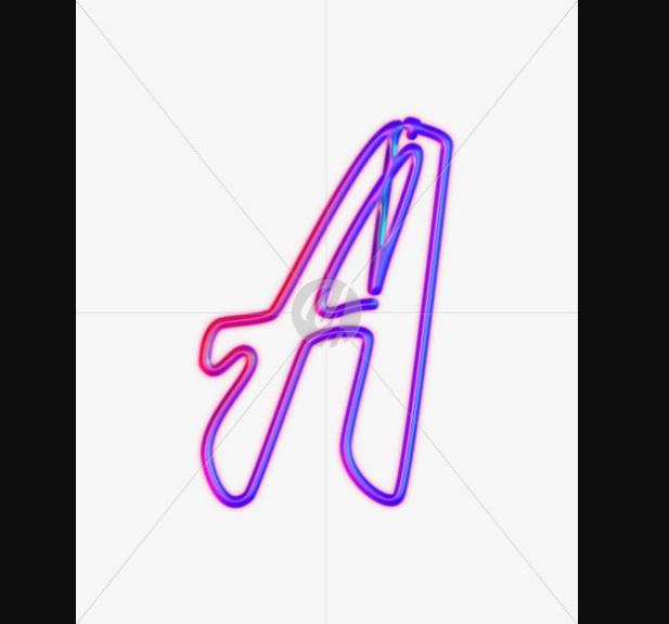 Neon Glowing Alphabets