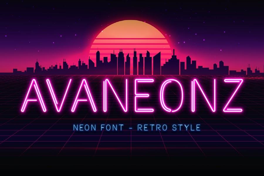 Neon Themed Retro Fonts
