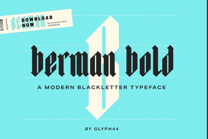 Old Blackletter English fonts