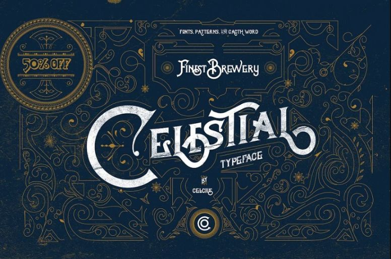 Old Calestial Typeface