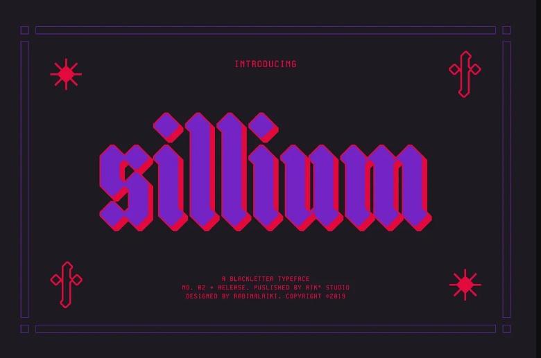 Old Sillium Typeface Fonts