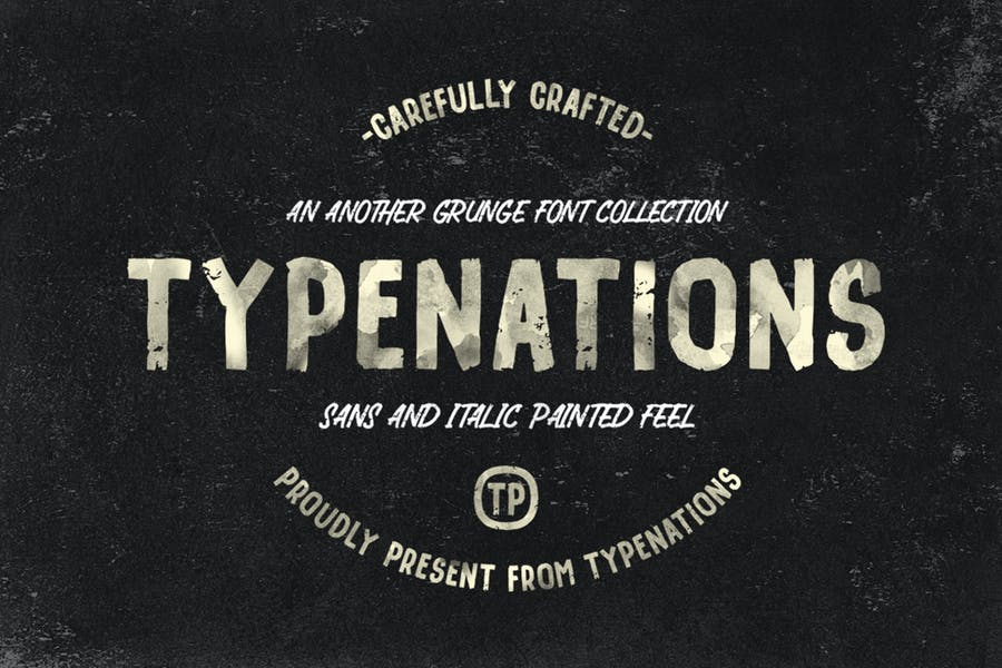 Painted and Grunge Duo Fonts