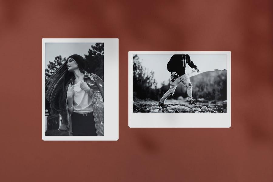 Polaroid Photo Mockups PSD