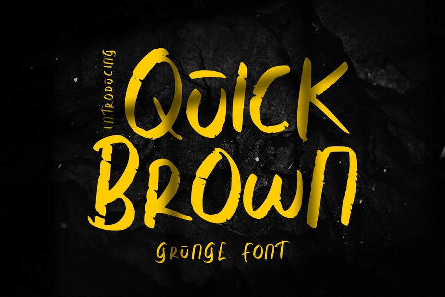 Quick Brown Calligraphy Fonts