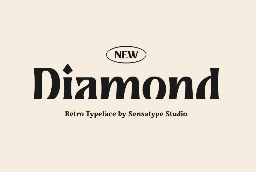 Retro Diamond Style Fonts