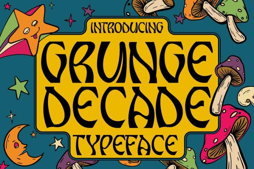 Retro Grunge Typeface Script