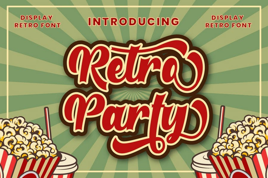 Retro Party Display Fonts