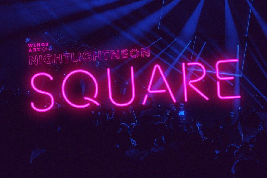 Retro Styled Neon Typeface