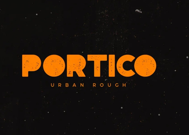 Rough Textured Urban Typeface