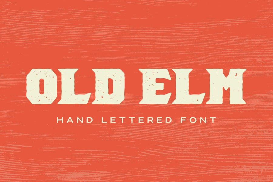 Rugged Hand Lettered Font
