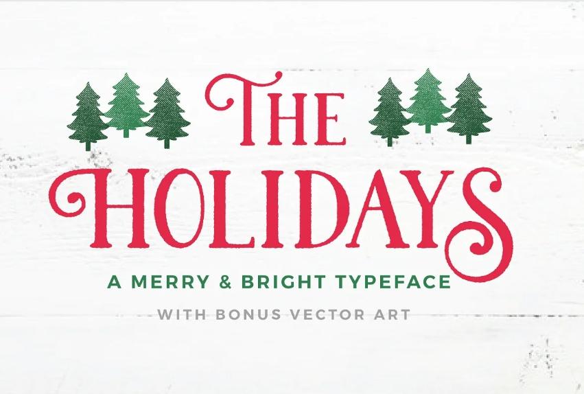 Rustic Christmas fonts
