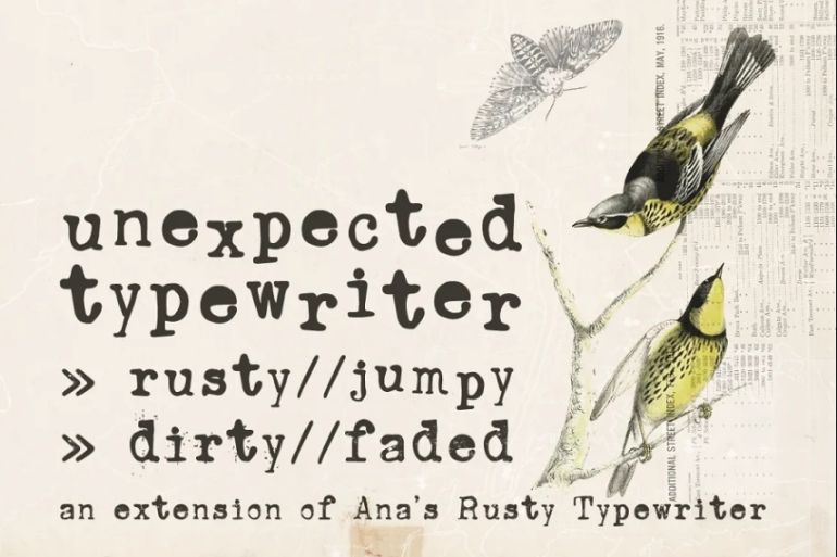 Rusty and Cute Typewriter Font