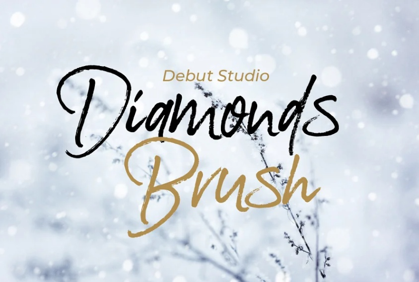 Simple Diamonds Brush Fonts
