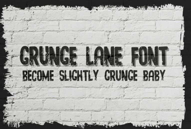 Simple Grunge Lane Fonts