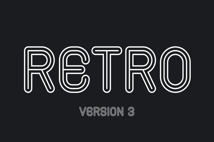 Simple Inline Retro Typeface