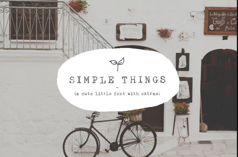 Simple and Thin Cute Fonts