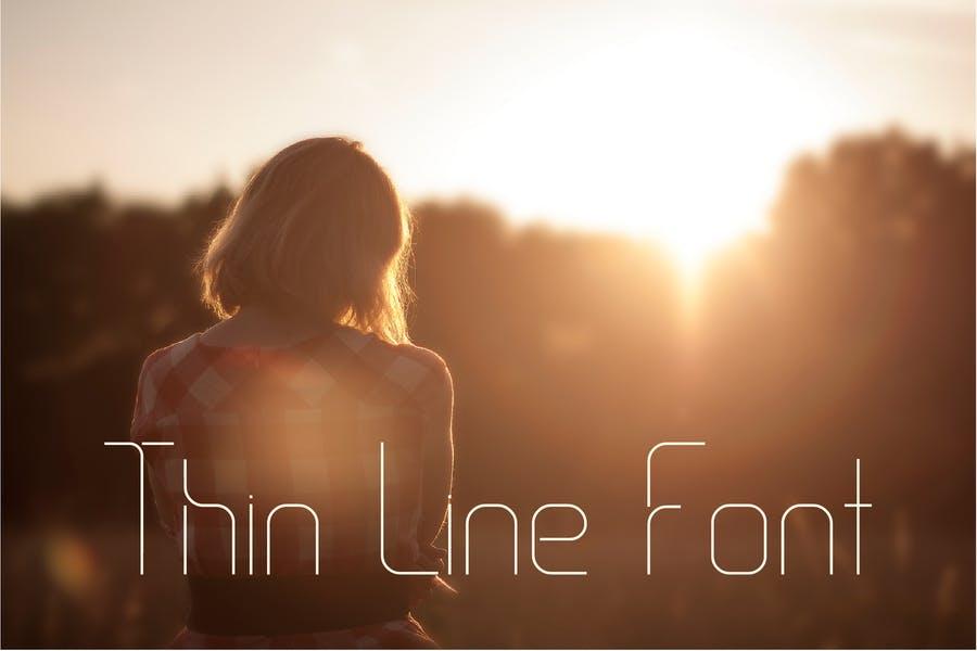 Single Line Curve Fonts