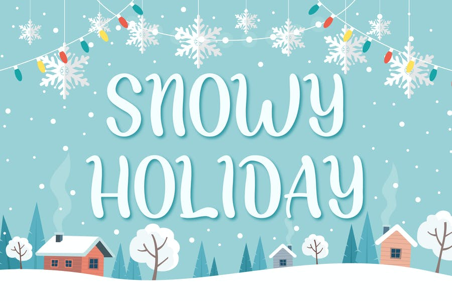 Snowy Holiday Display Fonts