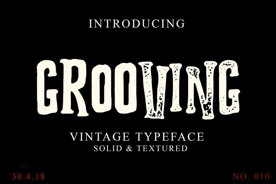 Solid and Textured Groovy Fonts
