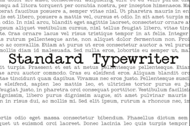 Standard typewriter Retro Fonts